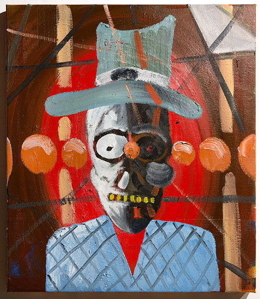 David Griggs Skull Cowboy, 2014; Oil on canvas; 71.5 x 61 cm; enquire