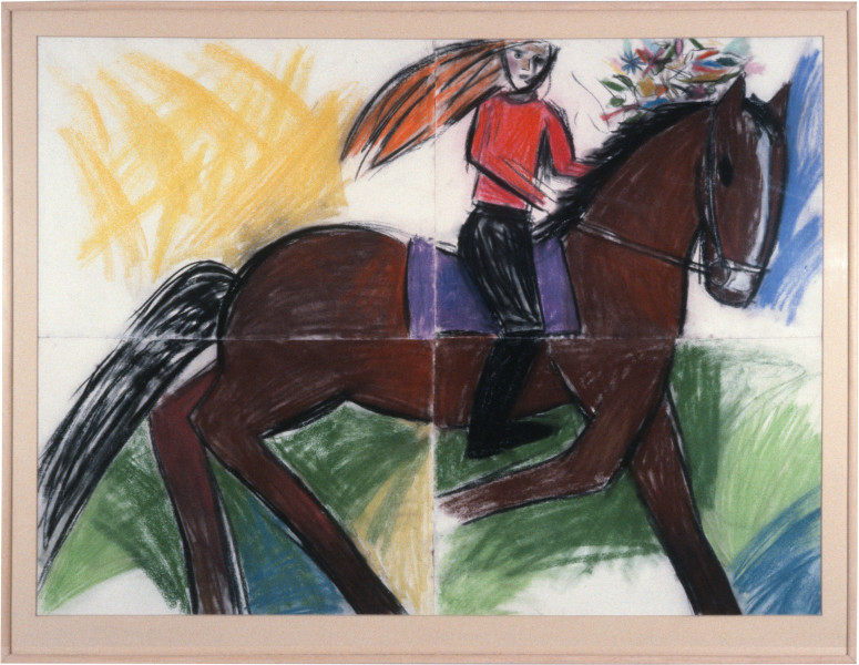 Jenny Watson Horse, 1983; oil on canvas; 56 x 51 cm; enquire