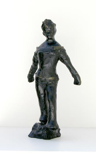 Linda Marrinon Woman with long sleeves, 2005; patinated plaster; 44 x 22 x 19 cm; enquire