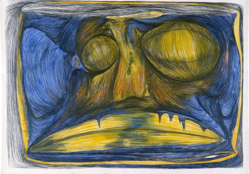 Dale Frank The Glass Bottle, 1985; pencil on paper; 182 x 254 cm; enquire