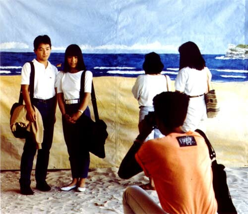 Anne Zahalka The Tourists, 1989; type C colour photographs; 74 x 90 cm; Edition of 20; enquire