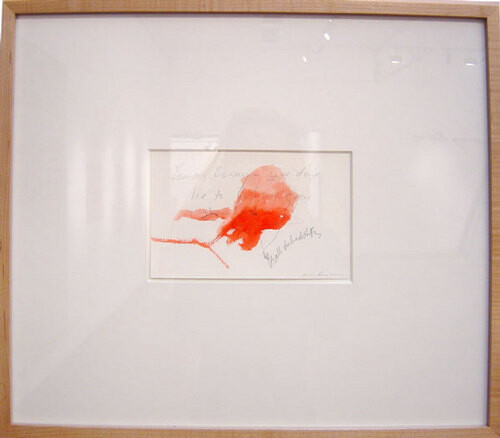 Tracey Emin You are coming, 2000; watercolour and pencil on paper; 13 x 20.5 cm; 45 x 52 cm (frame); enquire