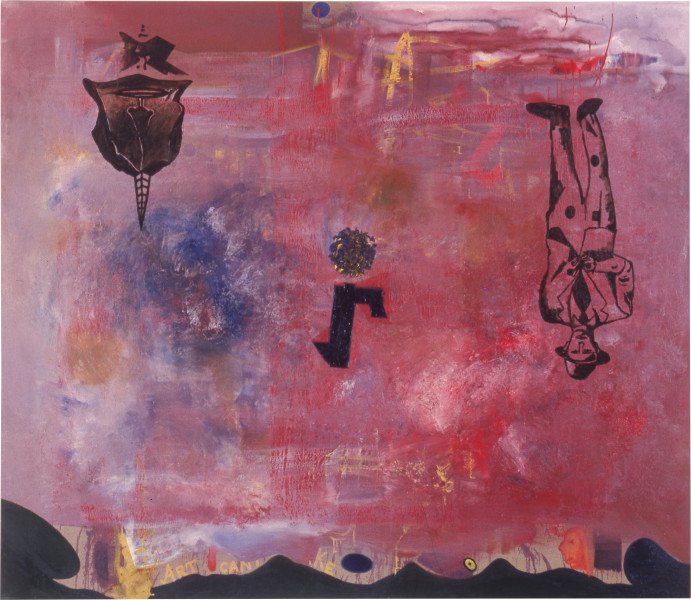 Gareth Sansom Floating, 1988; oil and enamel on linen; 198.1 x 228.6 cm; enquire