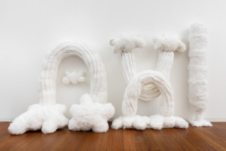Kathy Temin Mothering Garden: Wall Display, 2021; synthetic fur, synthetic filling; 200 x 360 x 80 cm; enquire