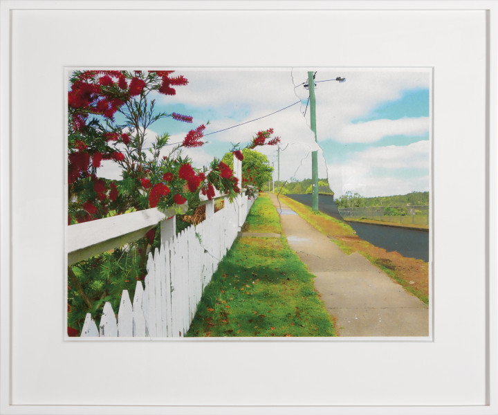 Tracey Moffatt Picturesque Cherbourg No.1, 2013; digital print collage on handmade paper; 57 x 78 cm; Edition of 8; enquire