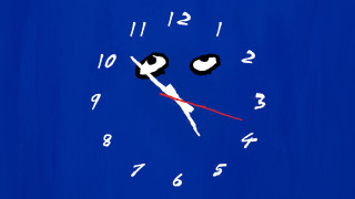 Tom Polo clockwatch (for Roslyn Oxley9) (still), 2021; created with Dara Gill; wall painting and digital video; dimensions variable; 8 hours 15 mins; enquire