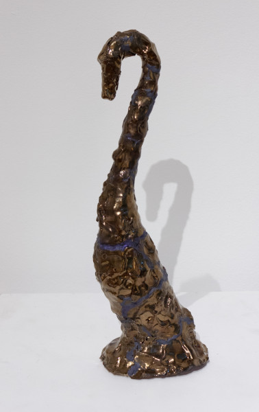 Mikala Dwyer The things in things, 2012; found objects, ceramic, glaze, epoxy filler; 40 x 12 x 10 cm; enquire