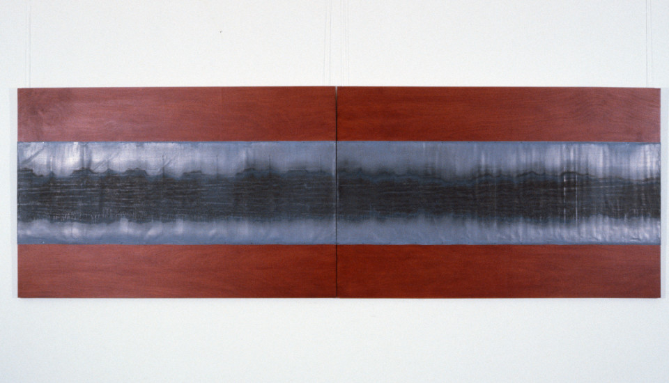 Carole Roberts The Well, 1990; lead on wood; 122 x 366 cm; enquire