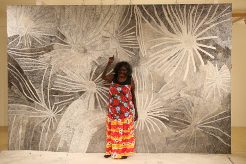 Nyapanyapa  Yunupinu's 'the moment eternal' at MAGNT