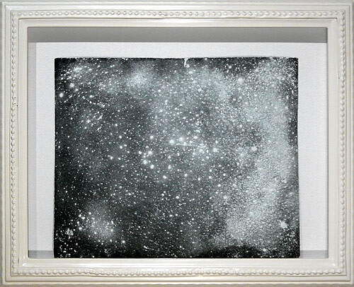 Hany Armanious Wall rubbing # 7, 2003; clogged sandpaper; 23 x 28 cm; (paper size) 34 x 41.5 cm (frame size); enquire