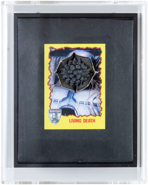 Rohan Wealleans Living Death, 2014; paint and polystyrene on trading cards; 17 x 13.8 x 9 cm; enquire