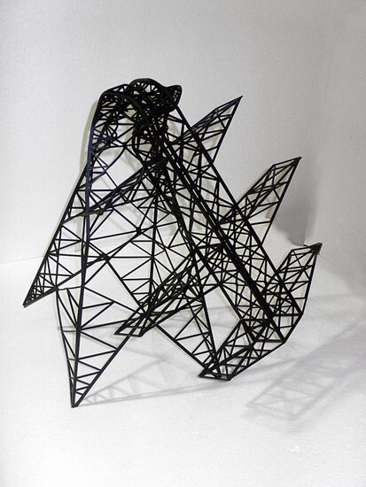 Callum Morton Monument #8, 2006; from the series Exhibited at Art 37 Basel, Switzerland, 2006; powder coated steel; 60 x 75 x 75 cm; enquire