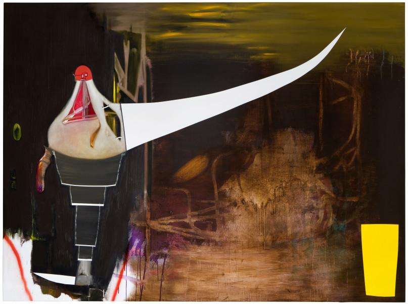 Gareth Sansom Tusk, 2009; oil and enamel on linen; 183 x 244 cm; enquire
