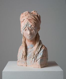 Linda Marrinon Revolutionist, 2014; tinted and painted plaster; 40 x 20.5 x 12 cm; enquire