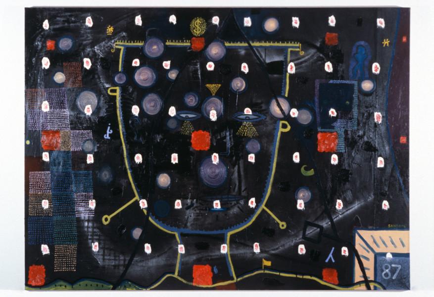 Gareth Sansom Happy New Year, 1987; oil on canvas; 167 x 228.5 cm; enquire