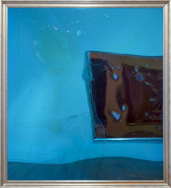 Dale Frank pernicious, 2015; varnish and penetrol on perspex; 214 x 194 cm; enquire