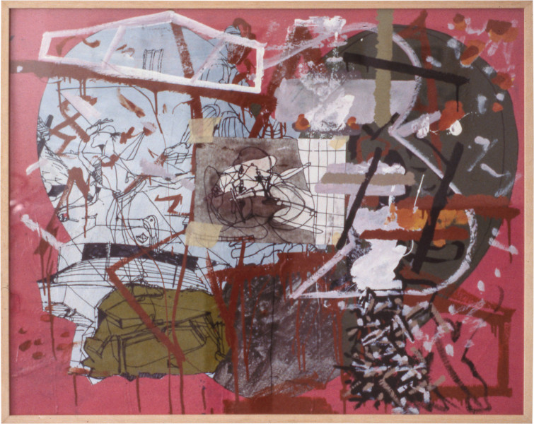 Gareth Sansom Pink one, 1979; mixed media on cardboard; 82 x 102 cm; enquire