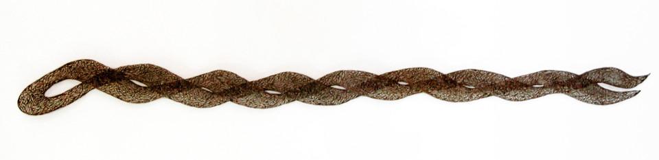 Bronwyn Oliver Ebb, 2004; copper; 230 x 20 x 10 cm; enquire