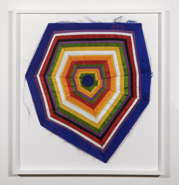 Del Kathryn Barton no other side, 2012; Dupion silk & embroidery cotton; 55.5 x 52 cm; enquire