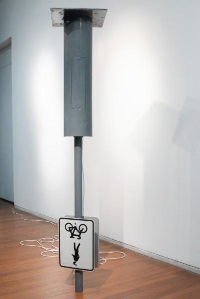 Tatzu Nishi Untitled, 2009; Sydney streetlamp; 357 x 65 x 65 cm; enquire