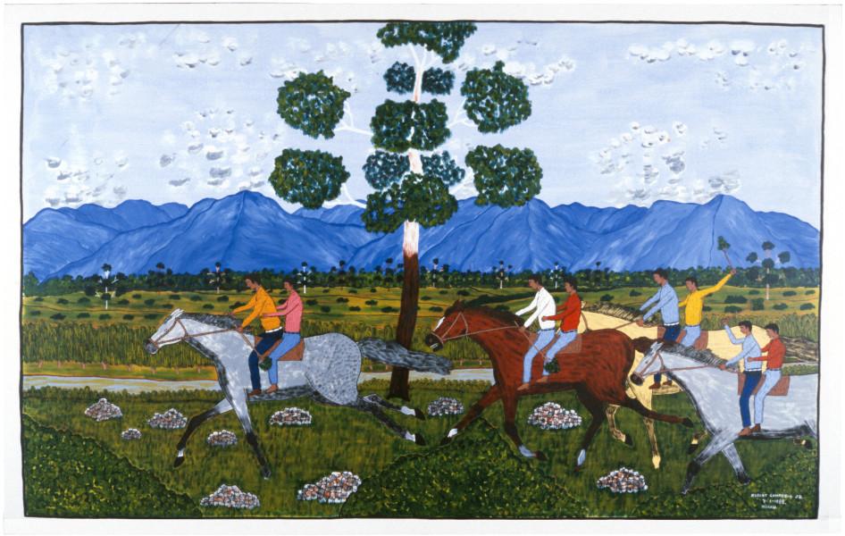 Robert Campbell Jnr Riding Wild Horses, 1988; acrylic on canvas; 115 x 181 cm; enquire