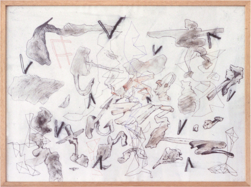 Gareth Sansom Sacks, 1981; mixed media on paper; 56.5 x 77 cm; enquire