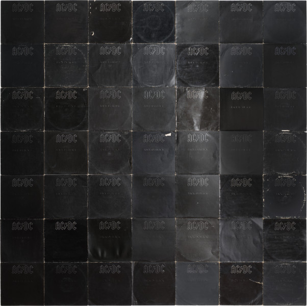 Nell More Sound Hours Than Can Ever Be Repaid - Back in Black, #2, 1980-13; Cardboard record sleeves; 219.5 x 220.4 cm; enquire