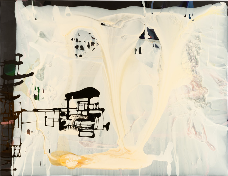 Dale Frank 10. The Chinese Military machine, a watercolor fragment, 2009; varnish and acrylic on canvas; 200 x 260 cm; enquire