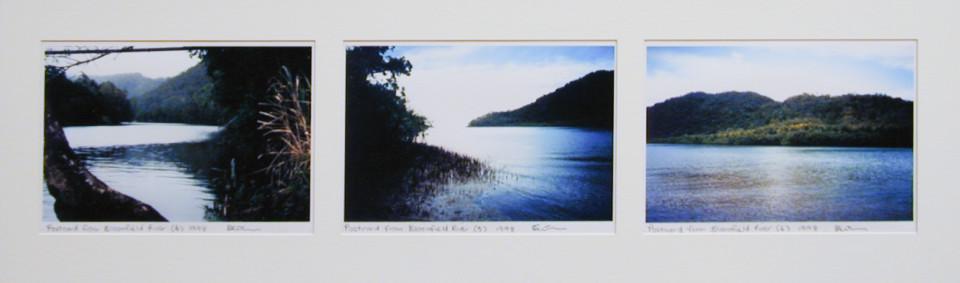 Destiny Deacon Postcard from Bloomfield River (4) (5) (6), 1998; 3 colour laser prints; 21.2 x 29.8 cm; Edition of 15; enquire