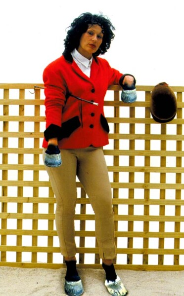Julie Rrap Camouflage #3 (Elizabeth), 2000; type c colour photograph; 195 x 122 cm; Edition of 9; enquire