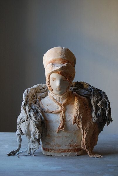 Linda Marrinon Young Man as Hussar, 2012; painted plaster; 33 x 31 cm; enquire