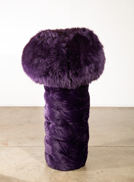 Kathy Temin Purple Tree, 2015; Synthetic fur, steel, synthetic filling; 165 x 96 x 96 cm; enquire