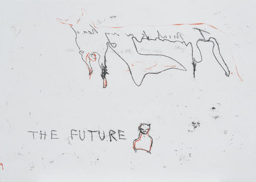 Tracey Emin My Future, 2003; black and red ink on paper; 42 x 60 cm; enquire