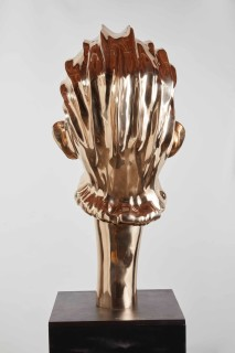 Del Kathryn Barton i am hear with my body, 2019; bronze and hand finished plinth, acrylic, MDF; sculpture: 101 x 45 x 54 cm, 90kg; plinth: 80 x 45 x 45 cm; Edition of 3 + 2 A/Ps; enquire