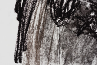 Pierre Mukeba Antinomy Paradox (P3) (detail), 2021; charcoal on archival paper; 120 x 168 cm; enquire