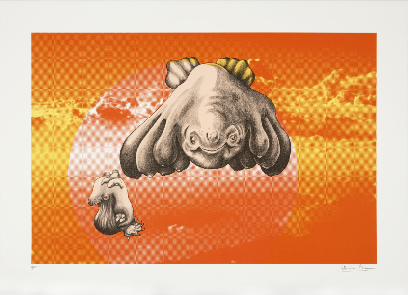 Patricia Piccinini The Skywhale Suite (Mountains), 2019; Lithograph on BFK Rives 250gsm; 50 x 60 cm; edition of 25 + 2 AP; enquire