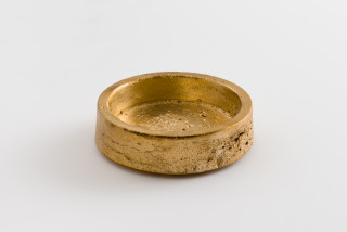 Marley Dawson Ashtray, 2021; cast brass (square lip); 3.5 x 11 x 11 cm; enquire