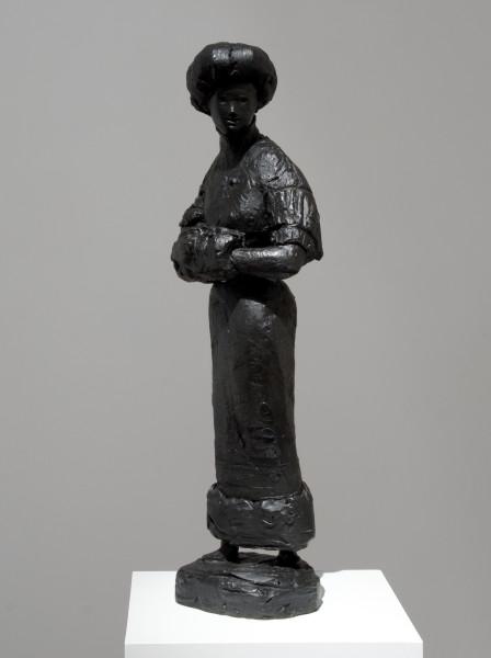 Linda Marrinon Woman with Hobble Skirt, 2010; bronze; 85 x 23 x 27 cm; Edition of 3 + AP 2; enquire