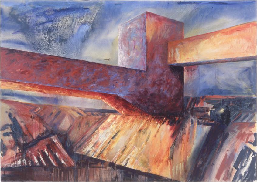 Mandy Martin E.Z. Works 1, 1986; oil on canvas; 170 x 240 cm; enquire