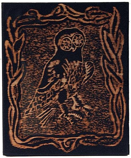 David Noonan Owl, 2003; bleach on fabric; 30.5 x 25.5 cm; enquire