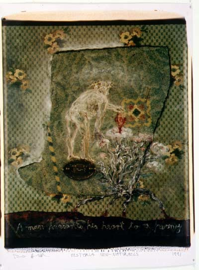 Fiona Hall Book XX: Drugs obtained from Garden Plants, 1991; Polaroid photograph; 68 x 53 cm; enquire