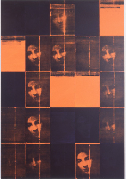Lindy Lee Some Aggregate Matter, 1994; photocopy and acrylic on stonehenge paper on boards; 205 x 142.5 cm; enquire
