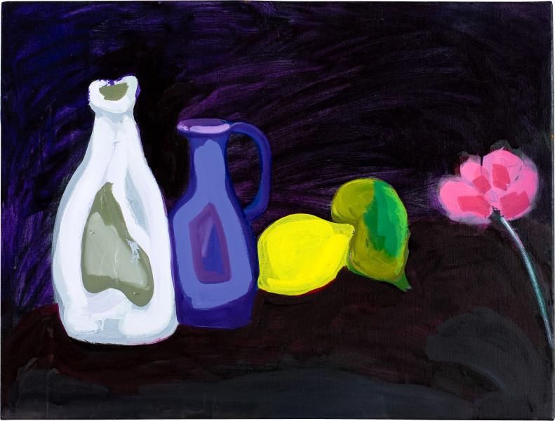 Angela Brennan Still life on black, 2009; oil on linen; 60 x 80.5 cm; enquire