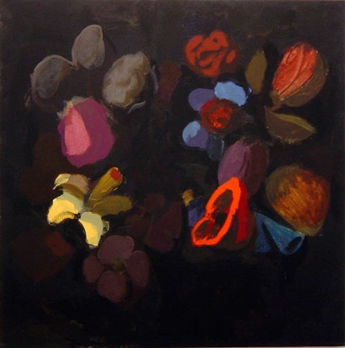 Tony Clark Floral Design with Banksia, 2002; Acrylic on canvas; 76 x 76 cm; enquire