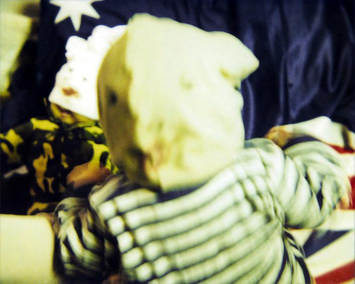 Destiny Deacon Whacked to sleep (A), 2007; Lightjet print from Polaroid original; 80 x 100 cm; Edition of 8 + 2 APs; enquire