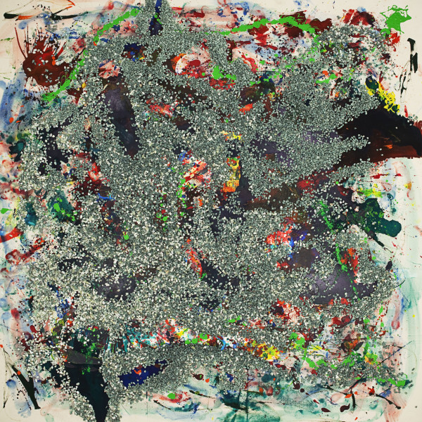 Julie Rrap Loaded: Green #6, 2012; digital print face mounted on perspex ; 126 x 126 cm; Edition of 3 + AP 2; enquire