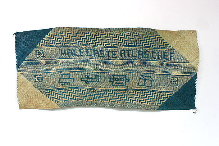 Newell Harry untitled (Half Caste / Atlas Chef), 2011; from the series gift mat; Pandanus, dye; 92 x 230 cm; enquire