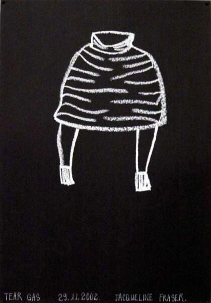 Jacqueline Fraser Tear Gas >, 2002; Oil stick on paper; 42 x 30 cm; enquire
