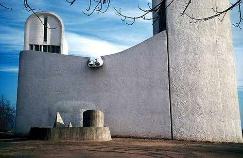 Harry Seidler The Chapel at Ronchamp, 1955; from the series Architect: Le Corbusier, completed 1950; 71 x 106.5 cm (image size) 95.5 x 125 cm (frame size) edition of 6; enquire