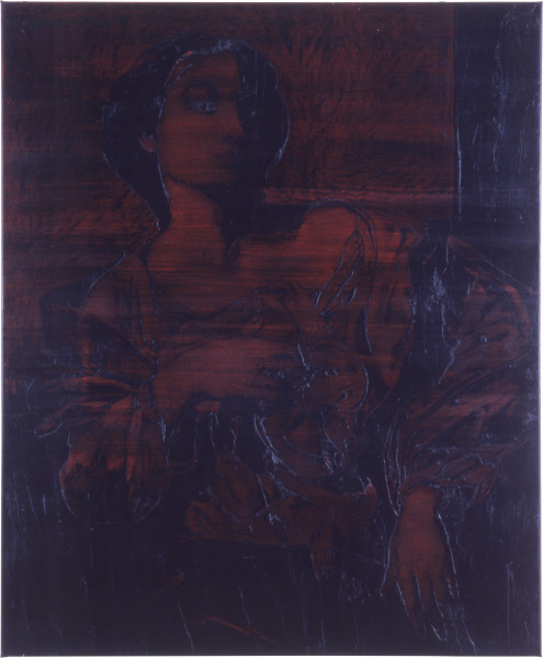 Lindy Lee Speculation, 1990; oils and wax on paper; 127.5 x 106 cm; enquire